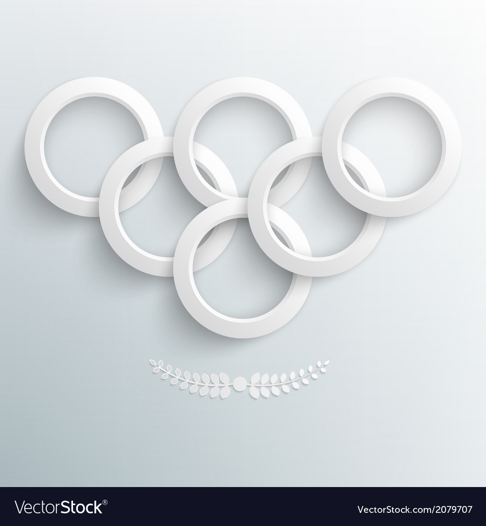 Sport background paper rings vector | Price: 1 Credit (USD $1)