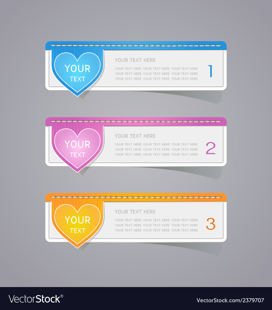 Sticker label paper colorful set vector | Price: 1 Credit (USD $1)