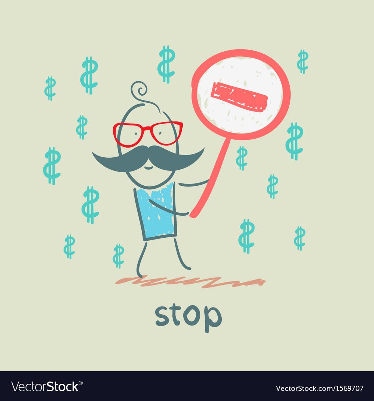 Stop vector | Price: 1 Credit (USD $1)