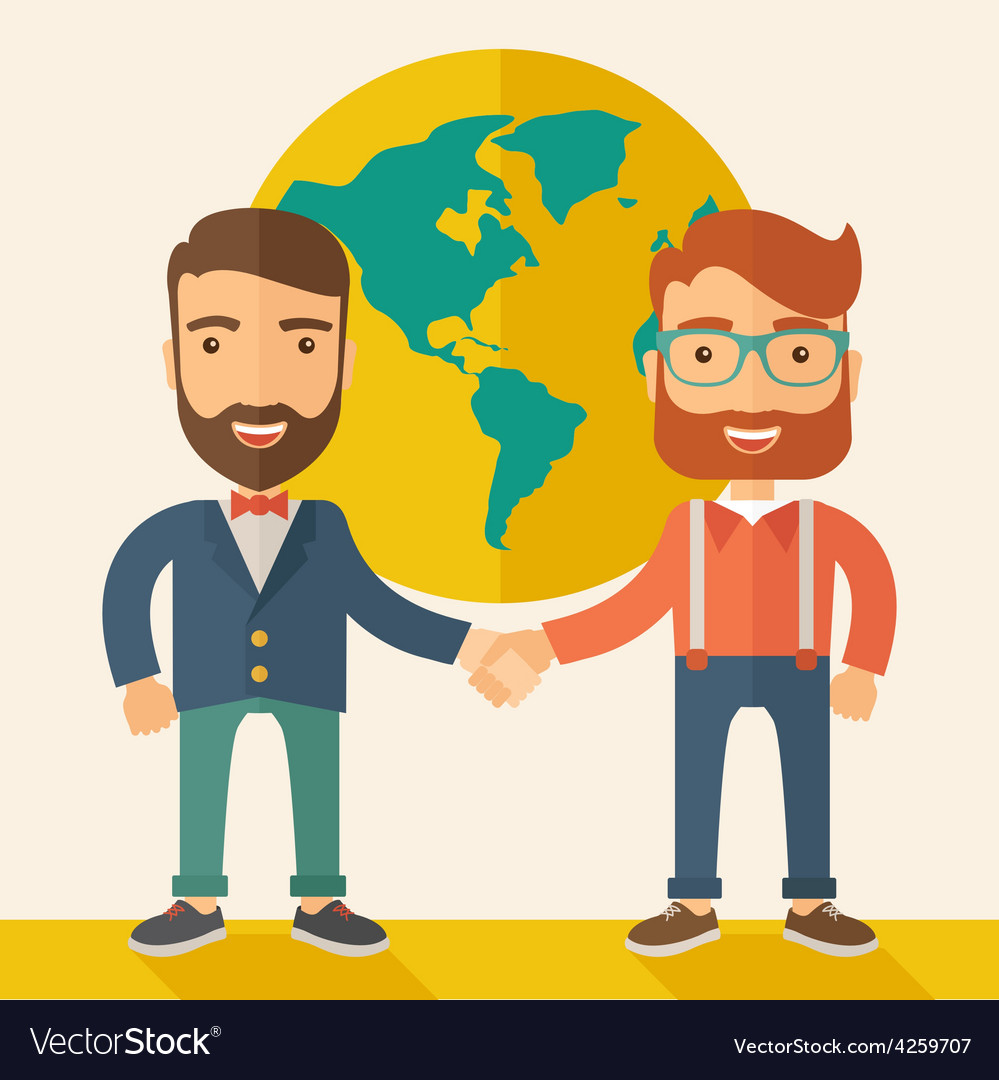 Succesful businessmen vector | Price: 1 Credit (USD $1)