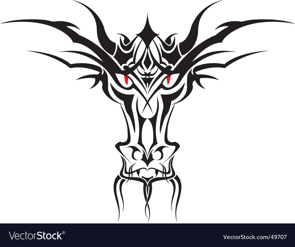 Tribal dragon vector | Price: 1 Credit (USD $1)