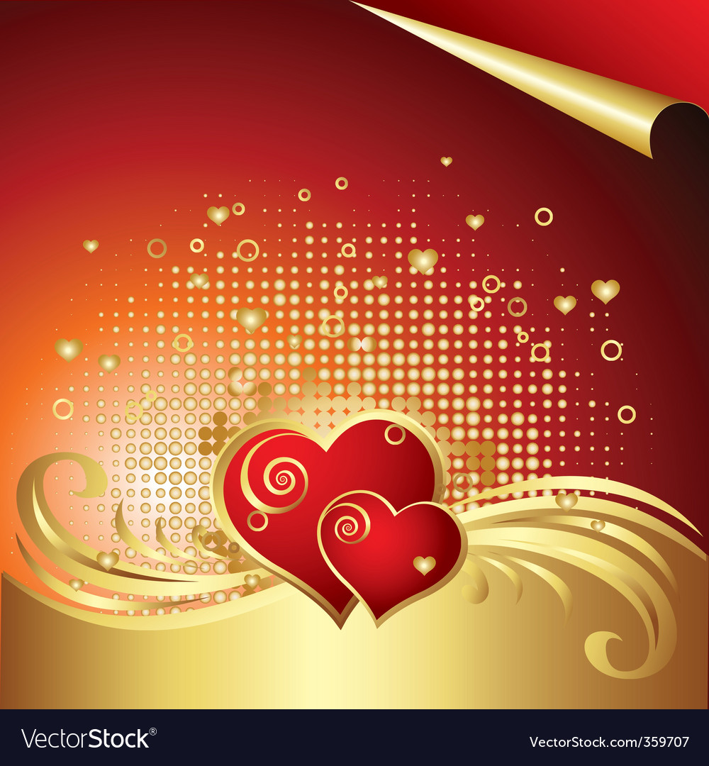 Valentines day background v vector | Price: 1 Credit (USD $1)