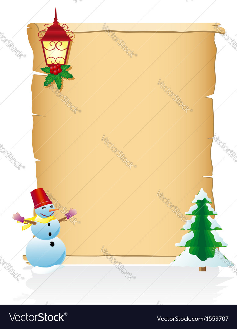 Vintage christmas blank scroll 04 vector | Price: 1 Credit (USD $1)