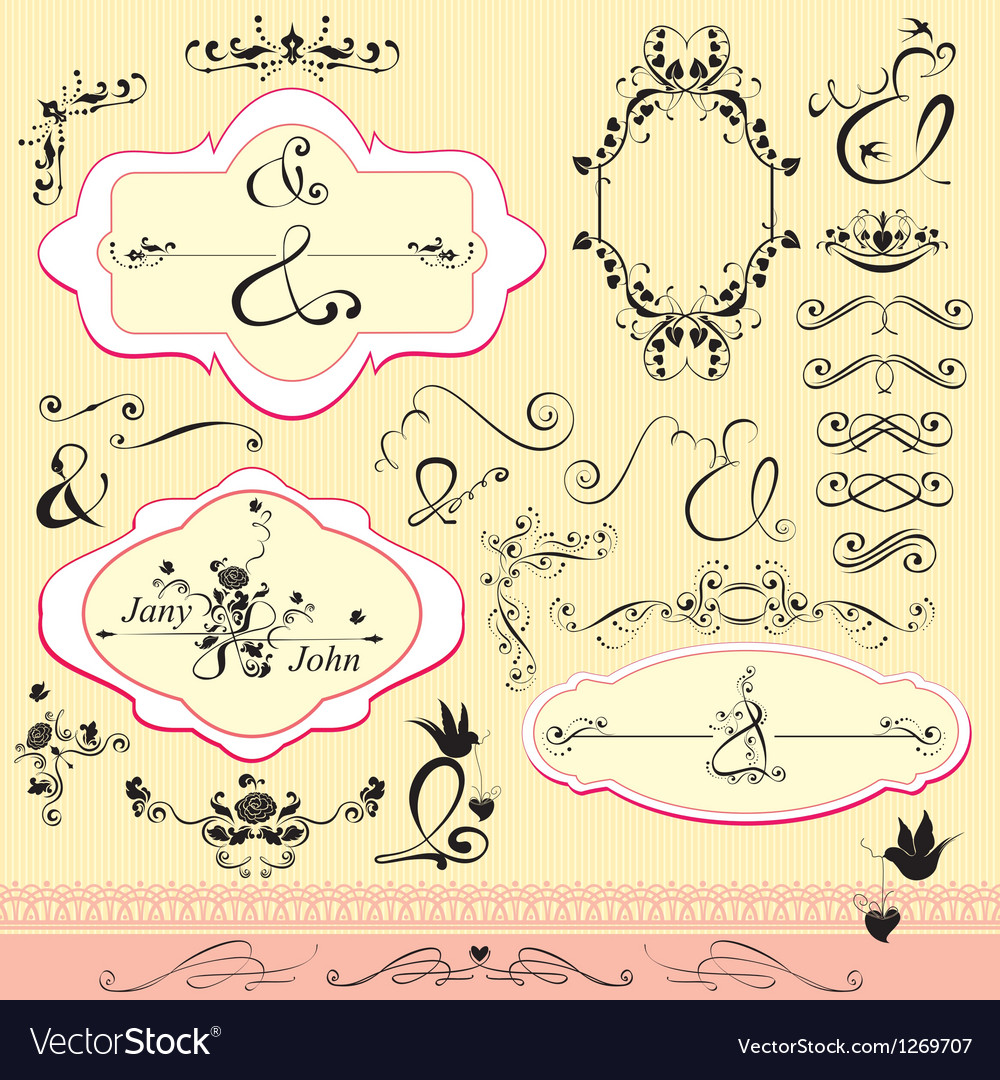 Vintage ornaments and frames- calligraphic design vector | Price: 1 Credit (USD $1)