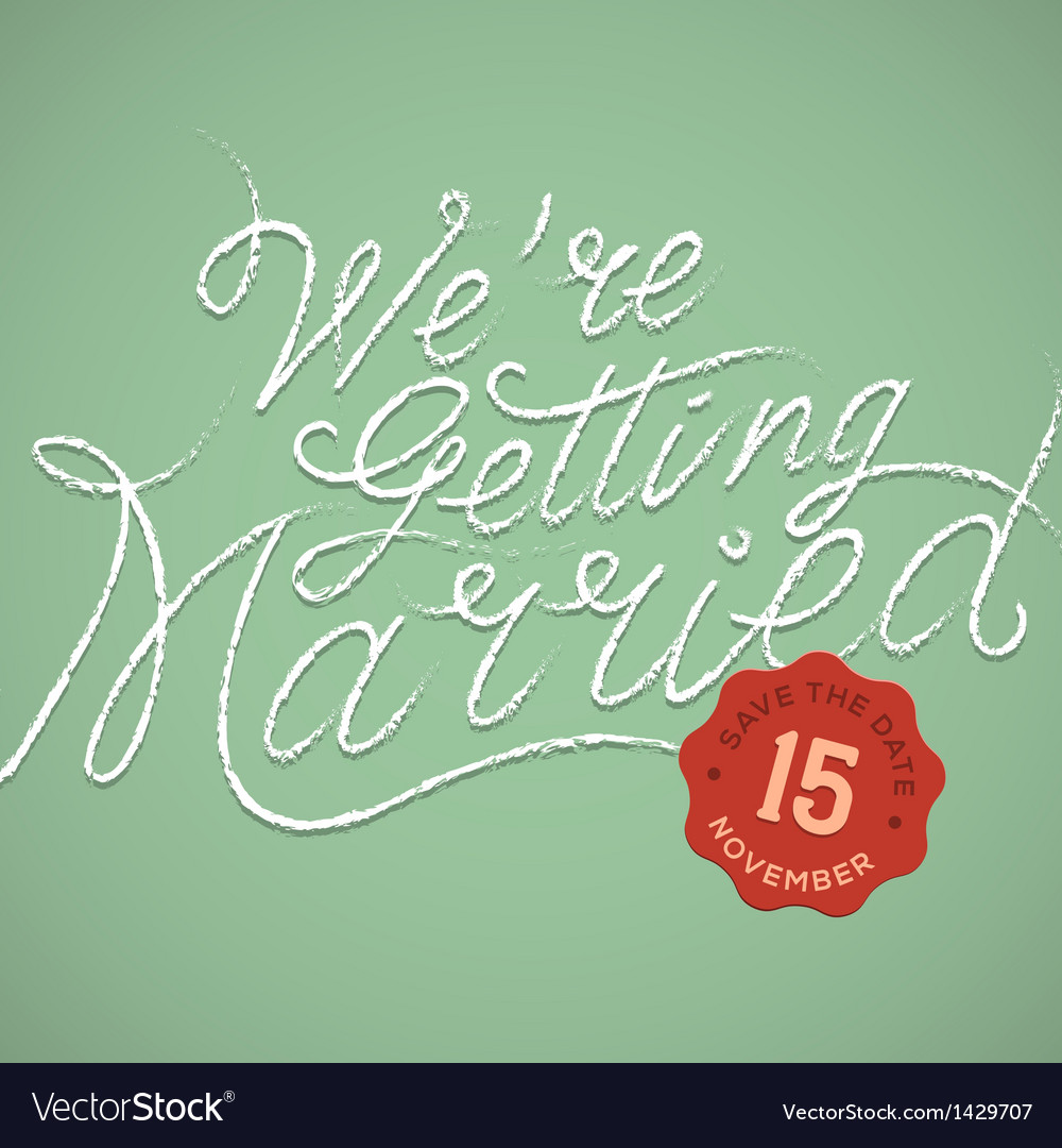 We are getting married vector | Price: 1 Credit (USD $1)