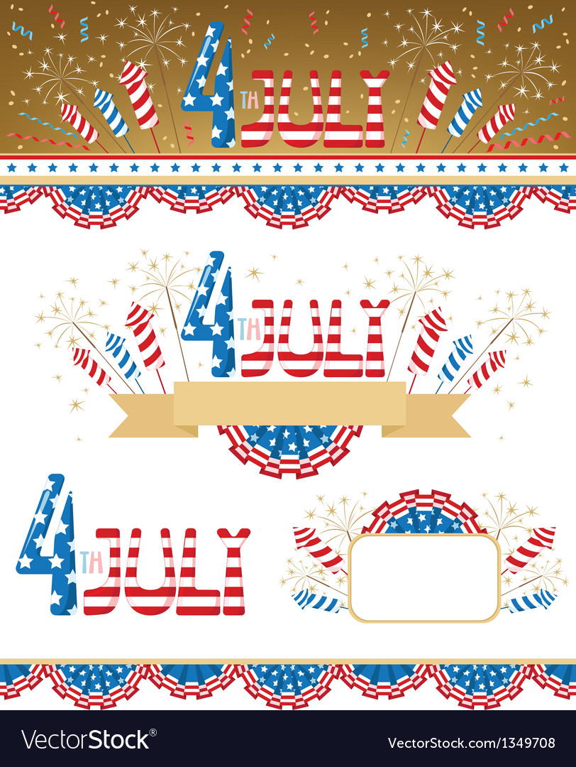 4th july elements vector | Price: 1 Credit (USD $1)