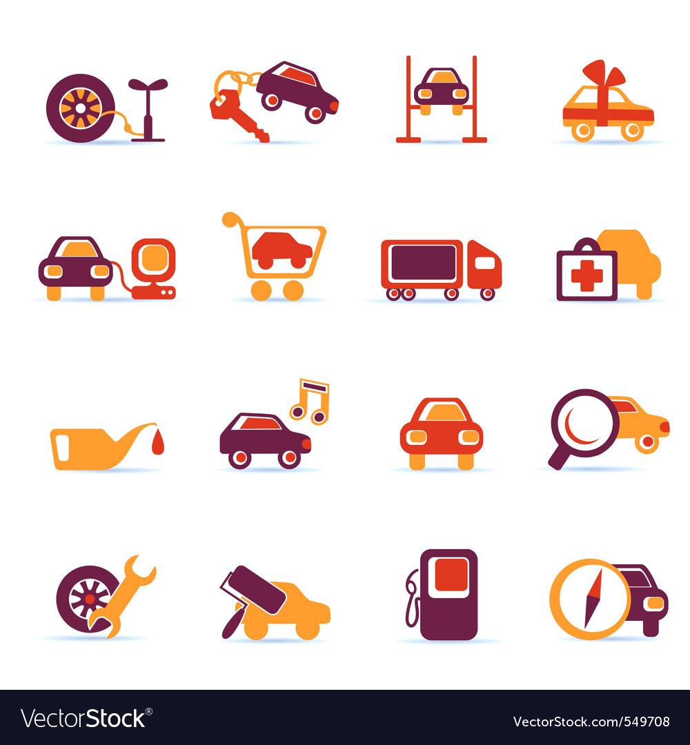 Auto service icons vector | Price: 1 Credit (USD $1)