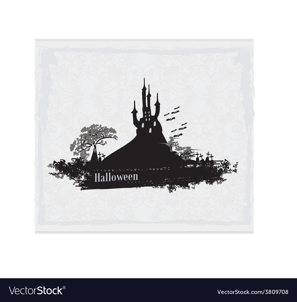 Castle in retro style vector | Price: 1 Credit (USD $1)