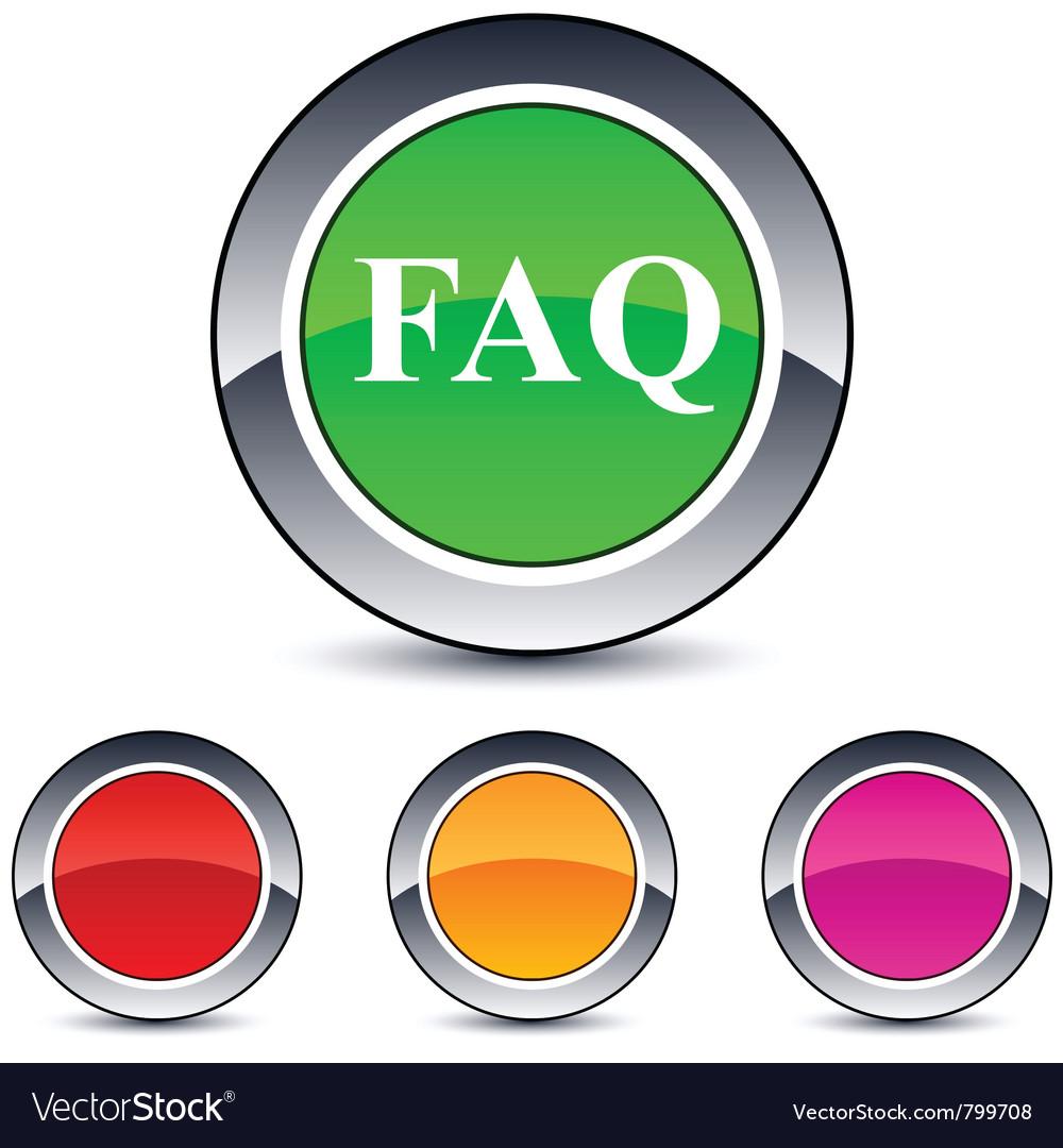 Faq round button vector | Price: 1 Credit (USD $1)