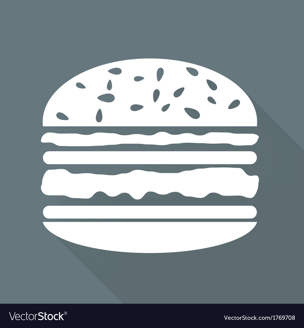 Hambrger web icon vector | Price: 1 Credit (USD $1)