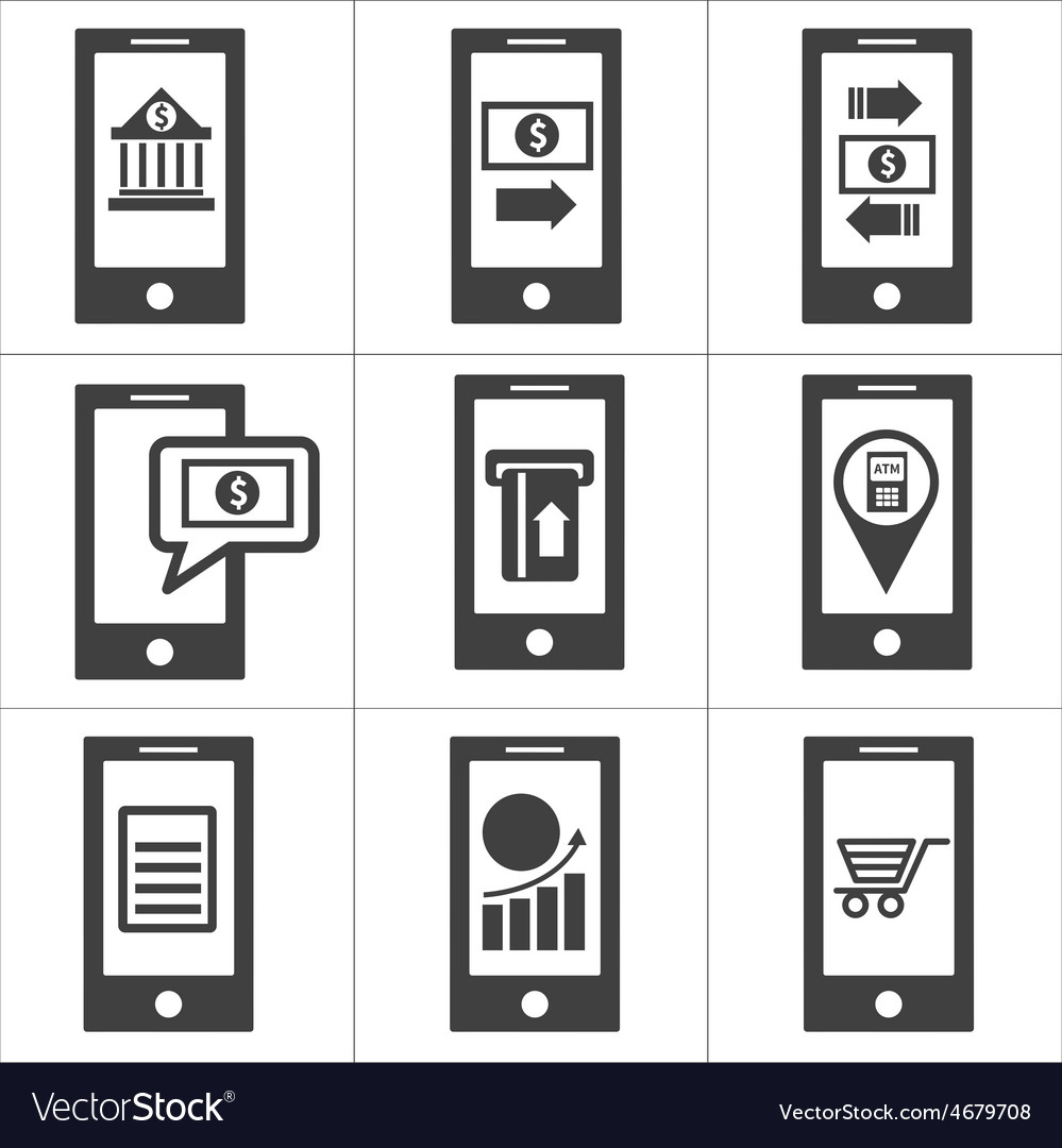 Mobile banking icon vector | Price: 1 Credit (USD $1)
