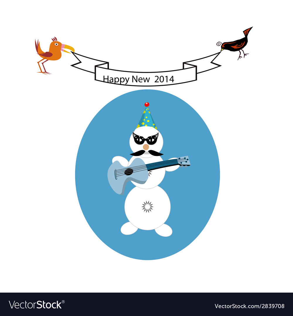 Musical snowman vector | Price: 1 Credit (USD $1)