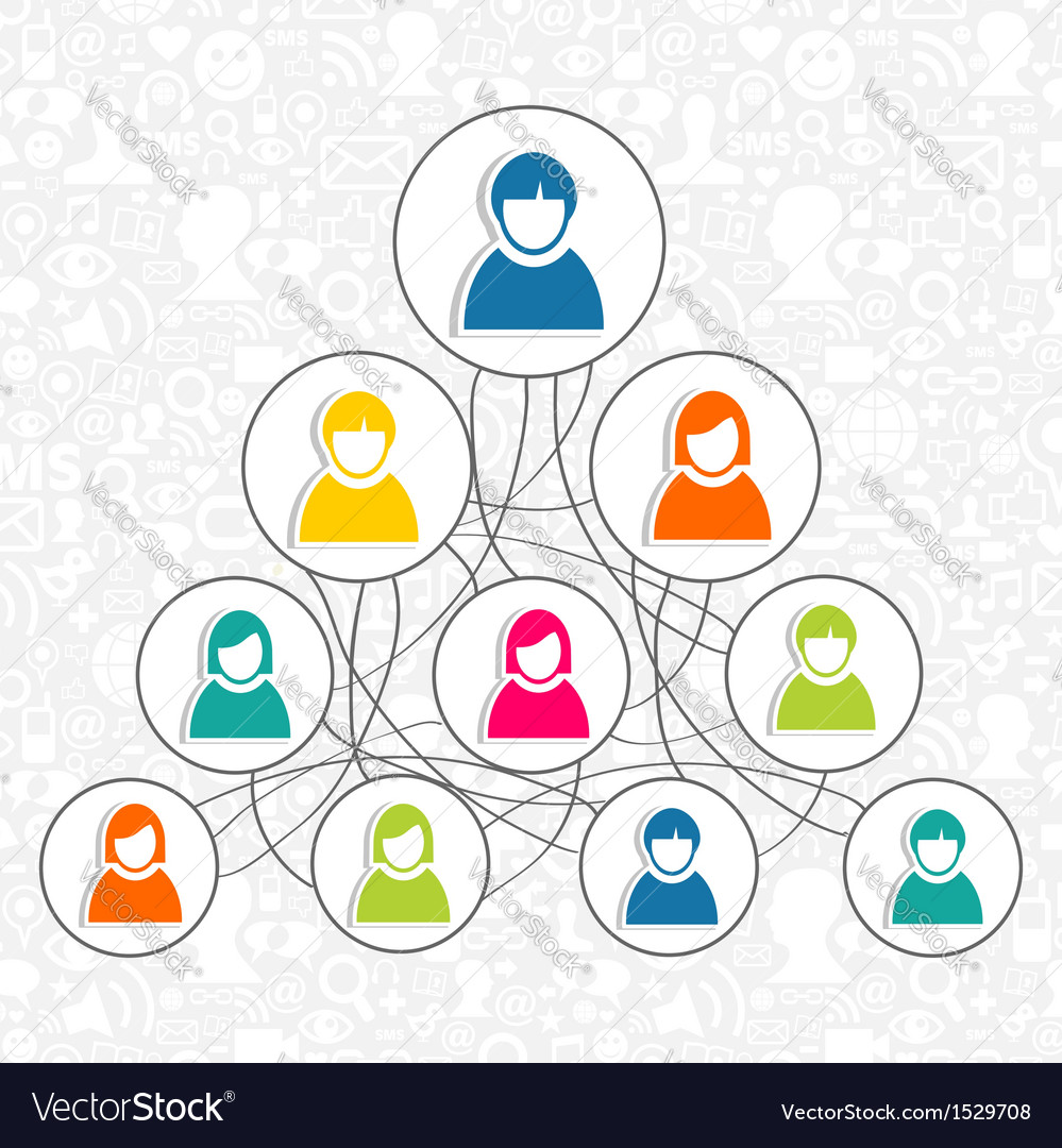 Social networking people vector | Price: 1 Credit (USD $1)