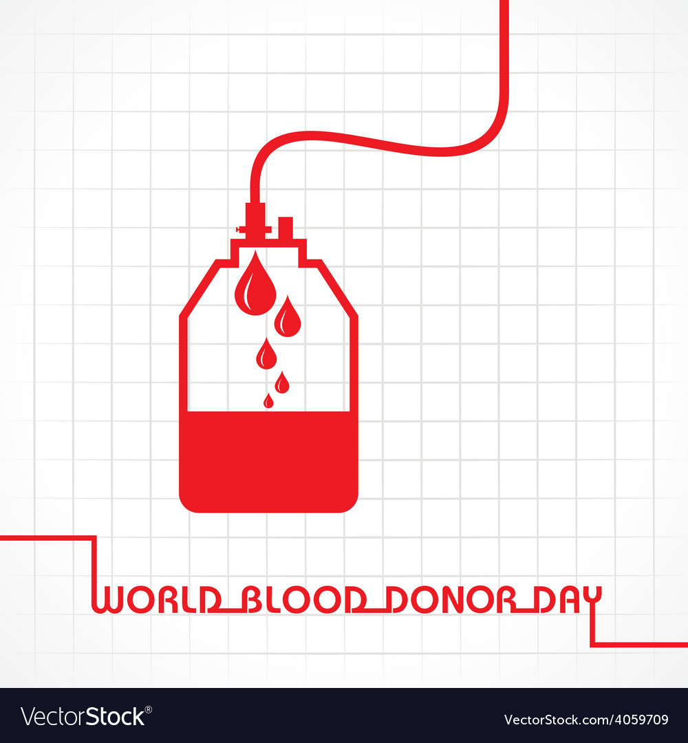 Creative world blood donor day greeting vector | Price: 1 Credit (USD $1)
