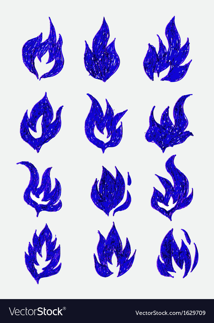 Fire flames icons in vector   Price: 1 Credit (USD $1)