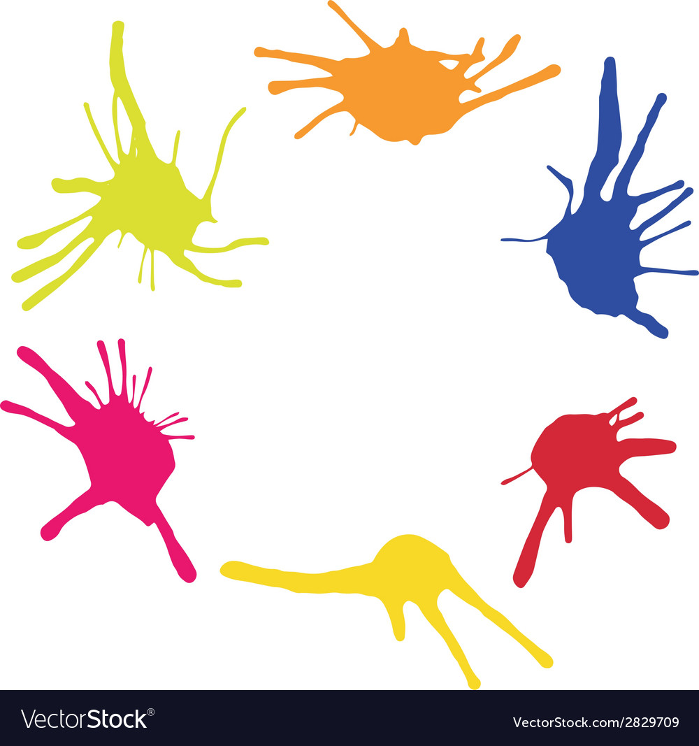 Frame from color blots vector | Price: 1 Credit (USD $1)