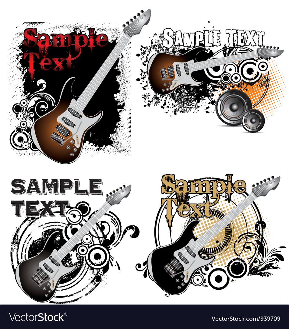 Grunge music banner - set vector   Price: 1 Credit (USD $1)