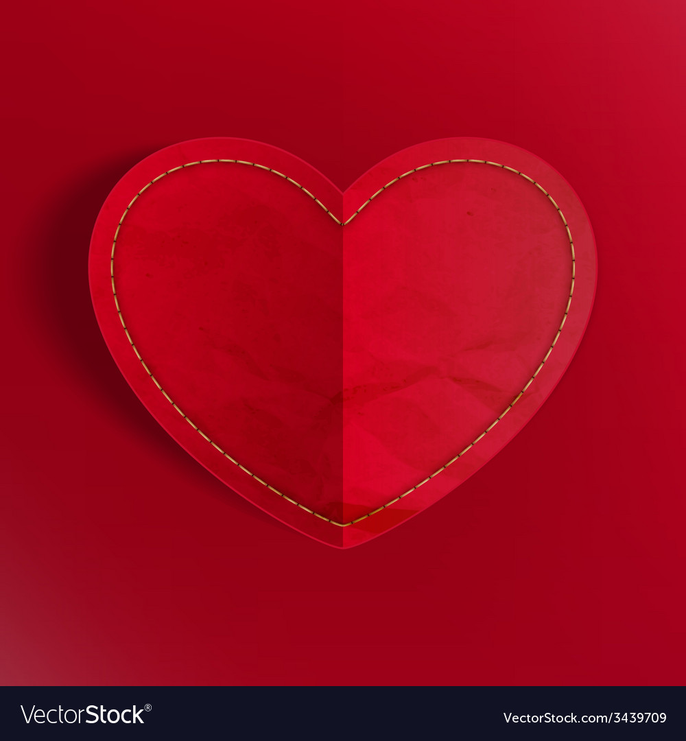 Heart from paper valentines day eps 10 vector   Price: 1 Credit (USD $1)