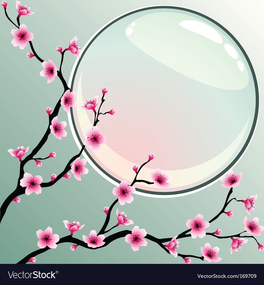 Pink blossoms vector | Price: 1 Credit (USD $1)