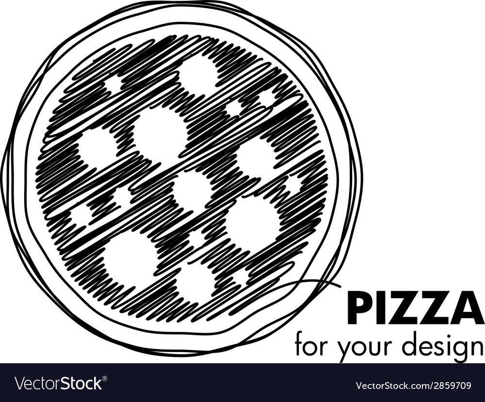 Pizza emblem vector | Price: 1 Credit (USD $1)