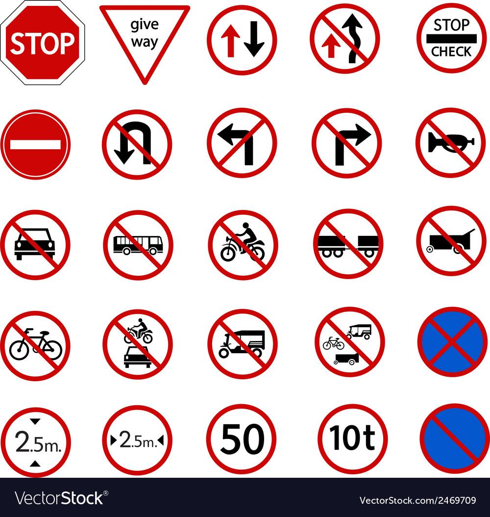 Regulatory sign vector | Price: 1 Credit (USD $1)