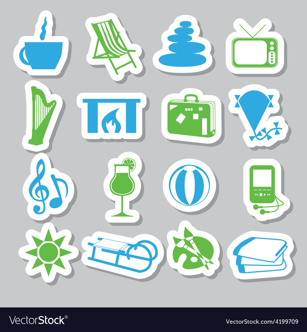 Relax stickers vector | Price: 1 Credit (USD $1)