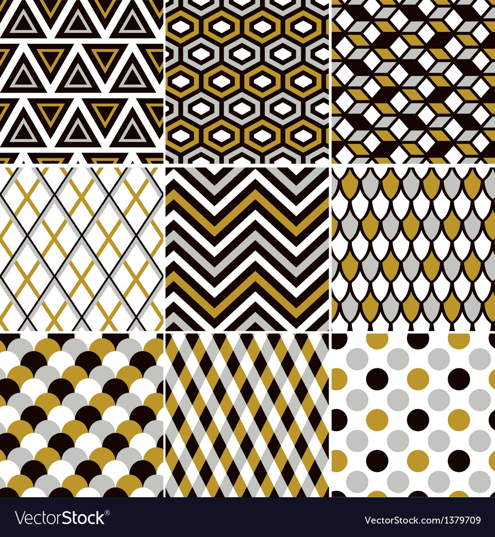 Seamless gold geometric pattern vector | Price: 1 Credit (USD $1)