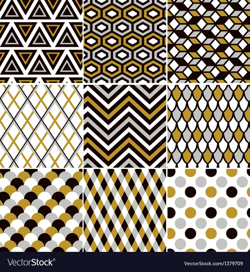 Seamless gold geometric pattern vector | Price: 1 Credit (USD $1)