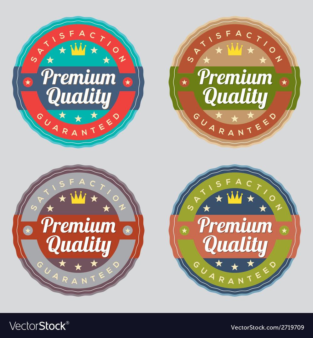 Set of vintage retro labels vector   Price: 1 Credit (USD $1)