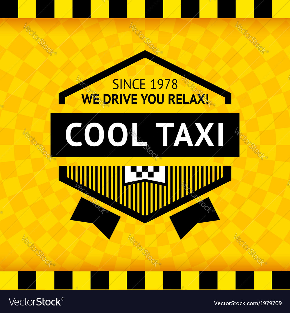 Taxi symbol with checkered background - 16 vector | Price: 1 Credit (USD $1)