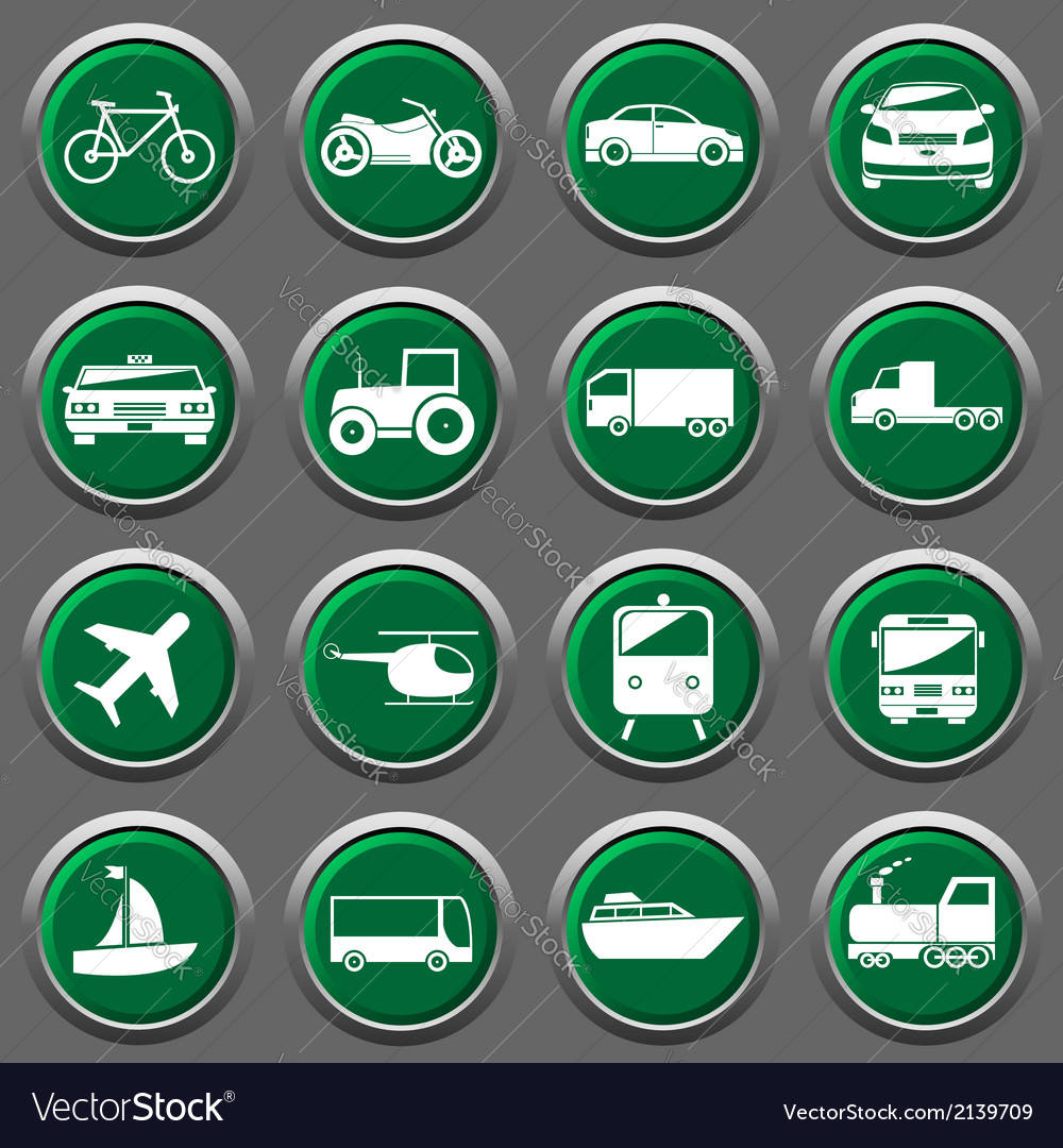 Transporter icons vector | Price: 1 Credit (USD $1)