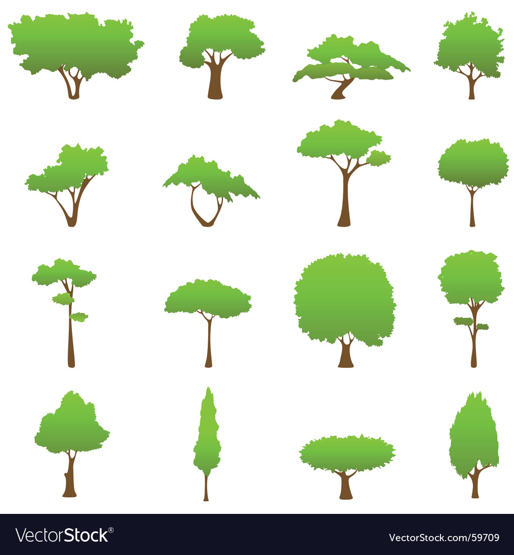 Tree design elements vector | Price: 1 Credit (USD $1)