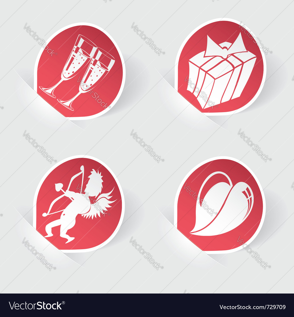 Valentines day icons vector | Price: 1 Credit (USD $1)
