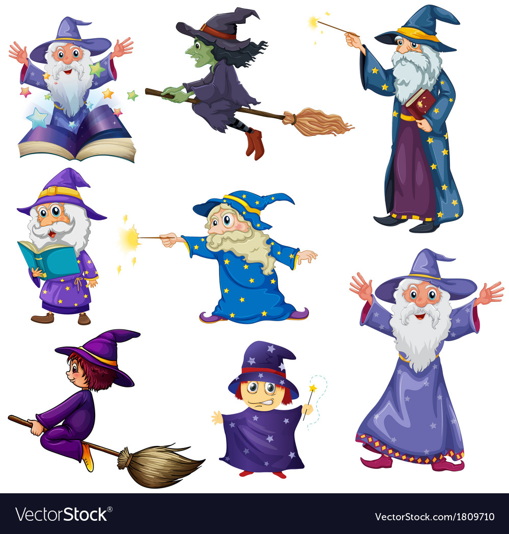 A group of wizards vector   Price: 1 Credit (USD $1)