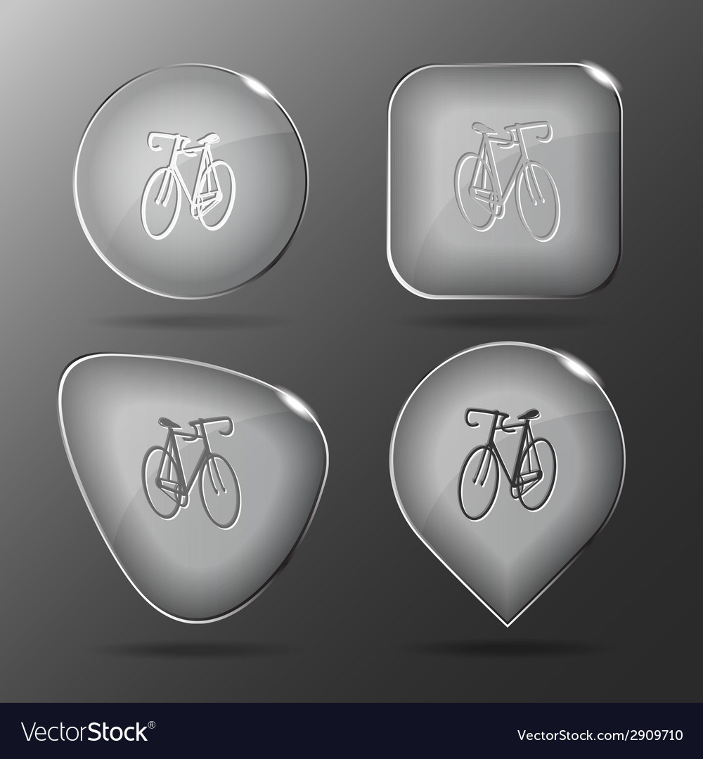 Bicycle glass buttons vector | Price: 1 Credit (USD $1)