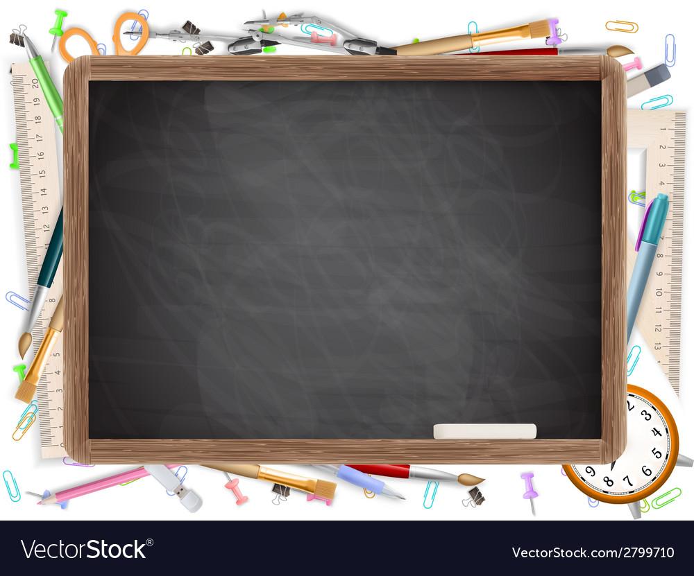 Black desk with copyspace eps 10 vector | Price: 1 Credit (USD $1)