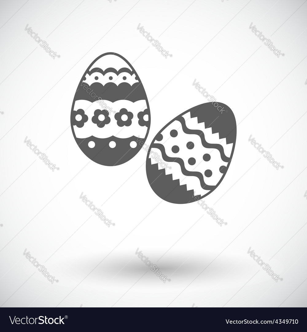 Easter egg single icon vector | Price: 1 Credit (USD $1)