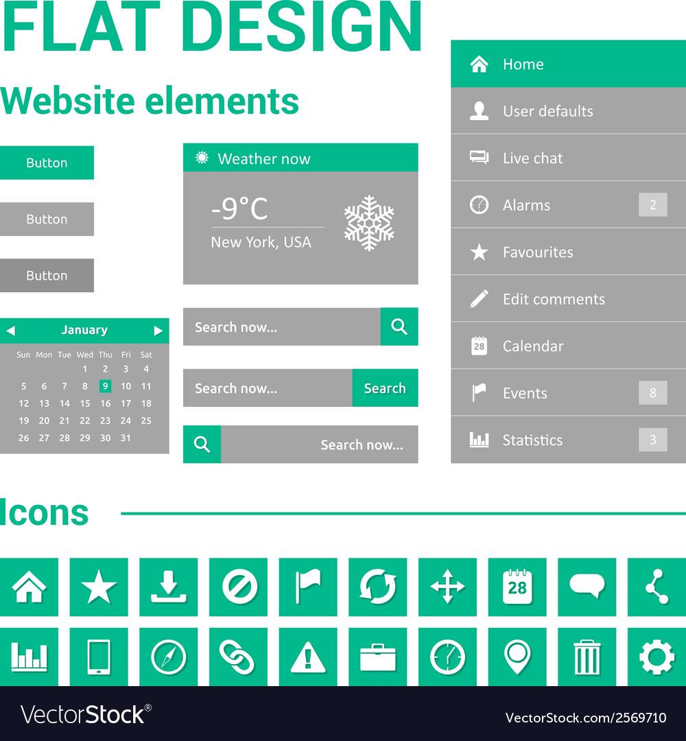Flat design for website vector   Price: 1 Credit (USD $1)