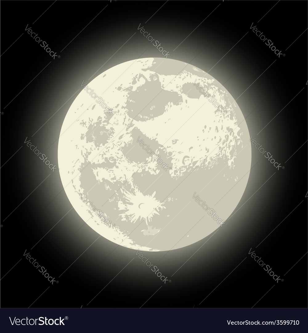 Full moon vector | Price: 1 Credit (USD $1)