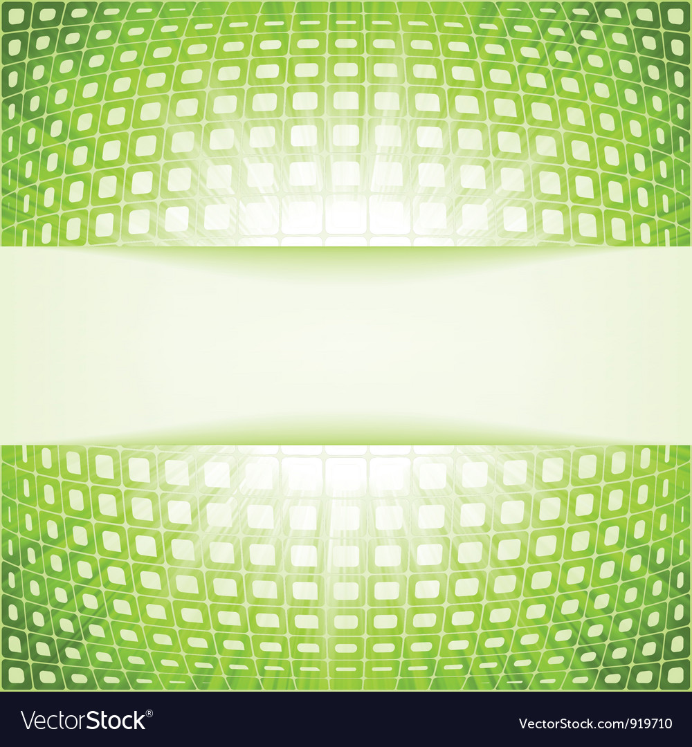 Green techno flare burst squares vector | Price: 1 Credit (USD $1)