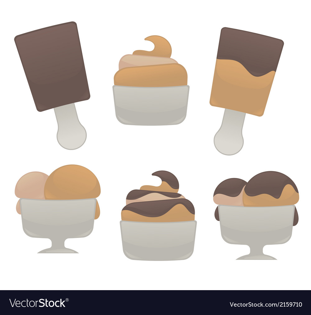 Ice cream collection vector | Price: 1 Credit (USD $1)