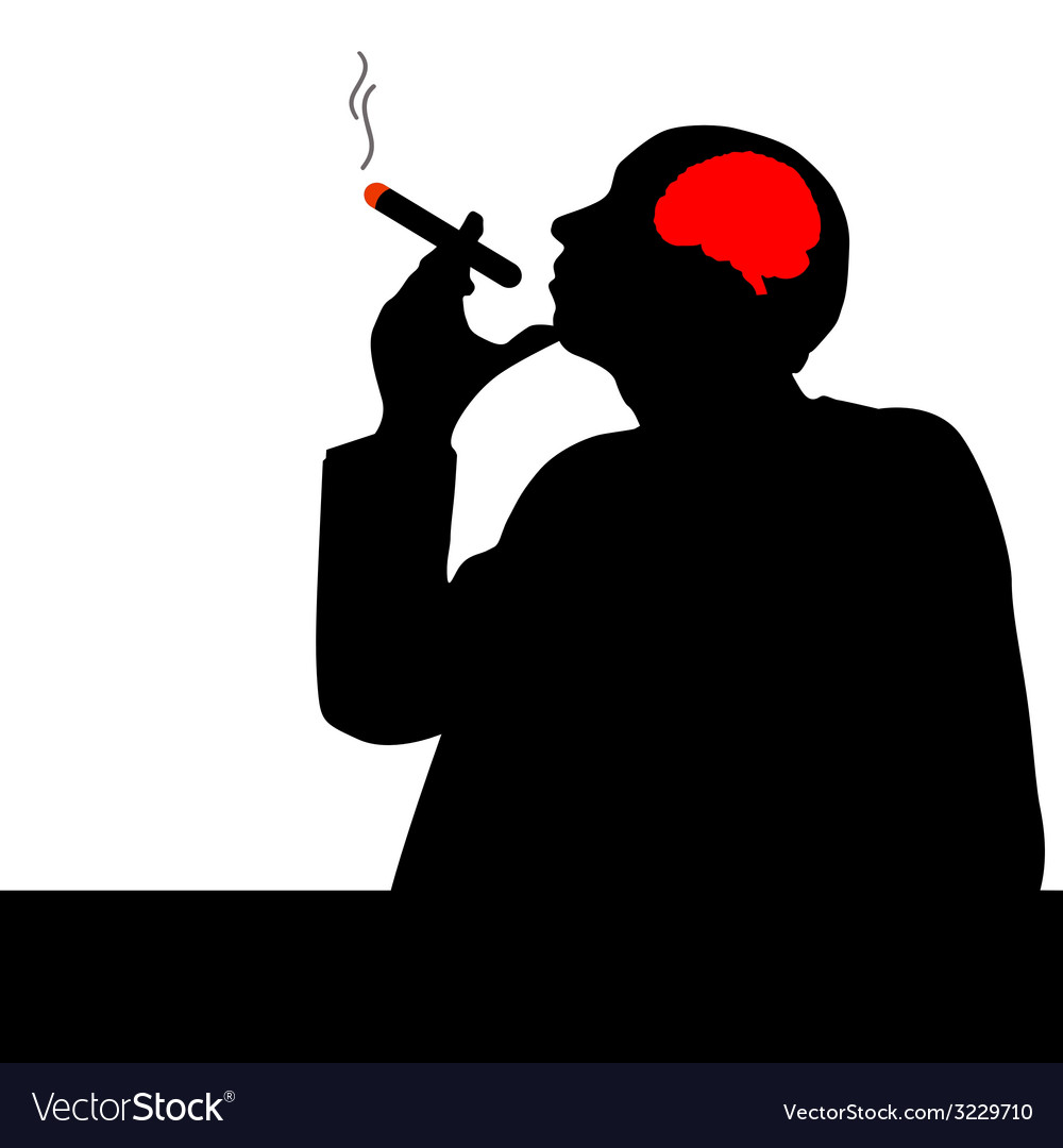 Man with cigar vector | Price: 1 Credit (USD $1)