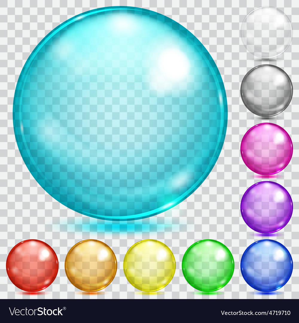 Multicolored transparent spheres vector | Price: 1 Credit (USD $1)