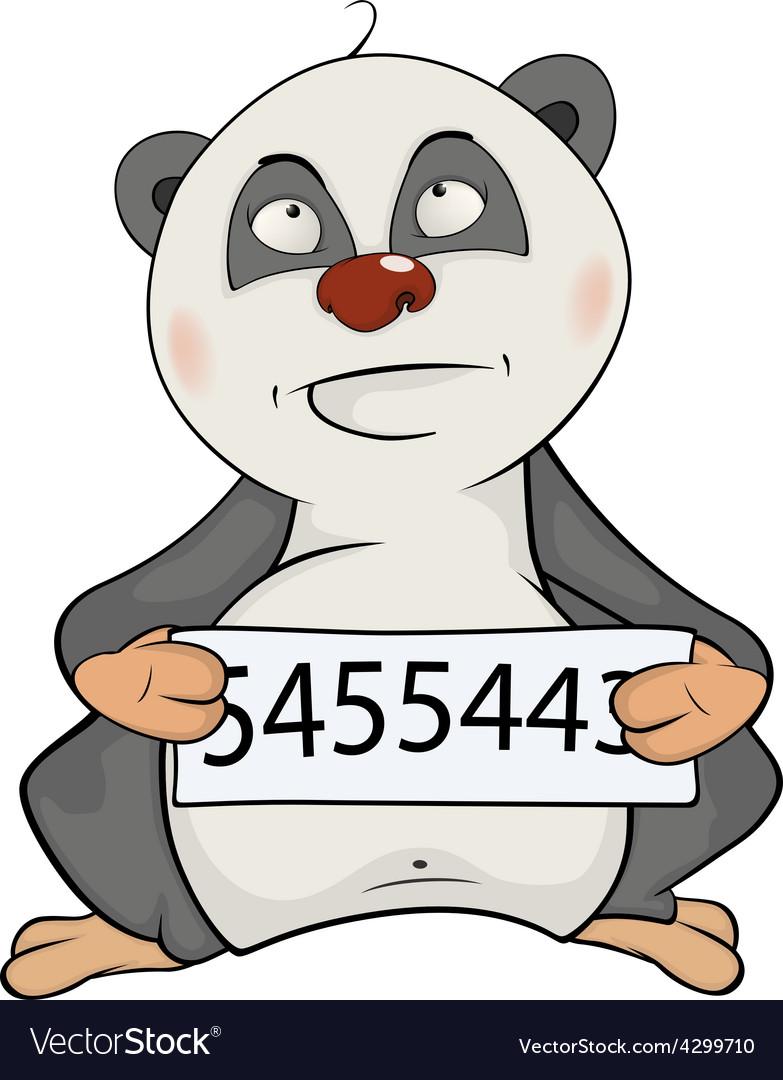 Panda the prisoner cartoon vector | Price: 1 Credit (USD $1)