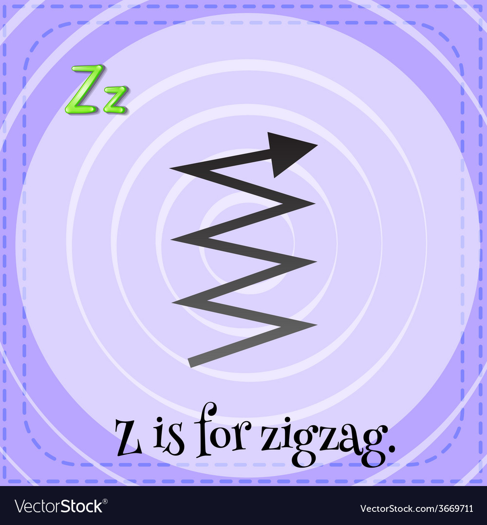 A letter z for zigzag vector | Price: 1 Credit (USD $1)