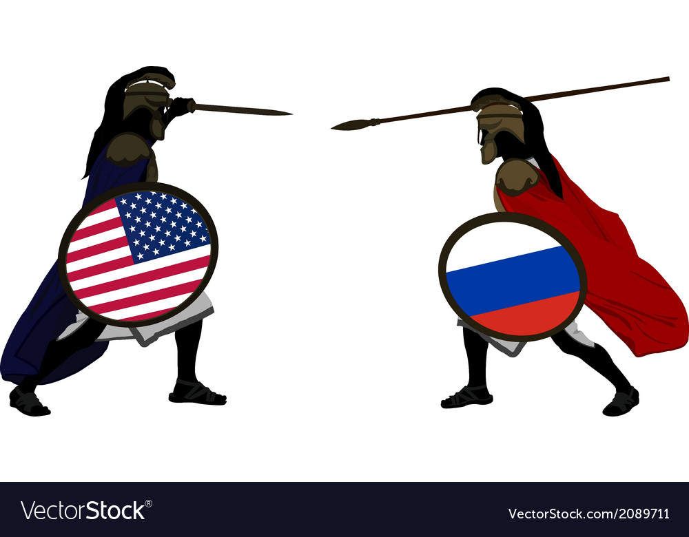 American and russian warriors vector | Price: 1 Credit (USD $1)