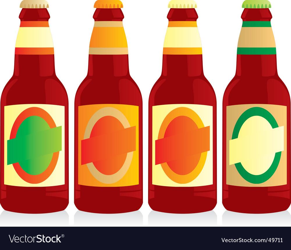 Beer bottles set vector | Price: 1 Credit (USD $1)