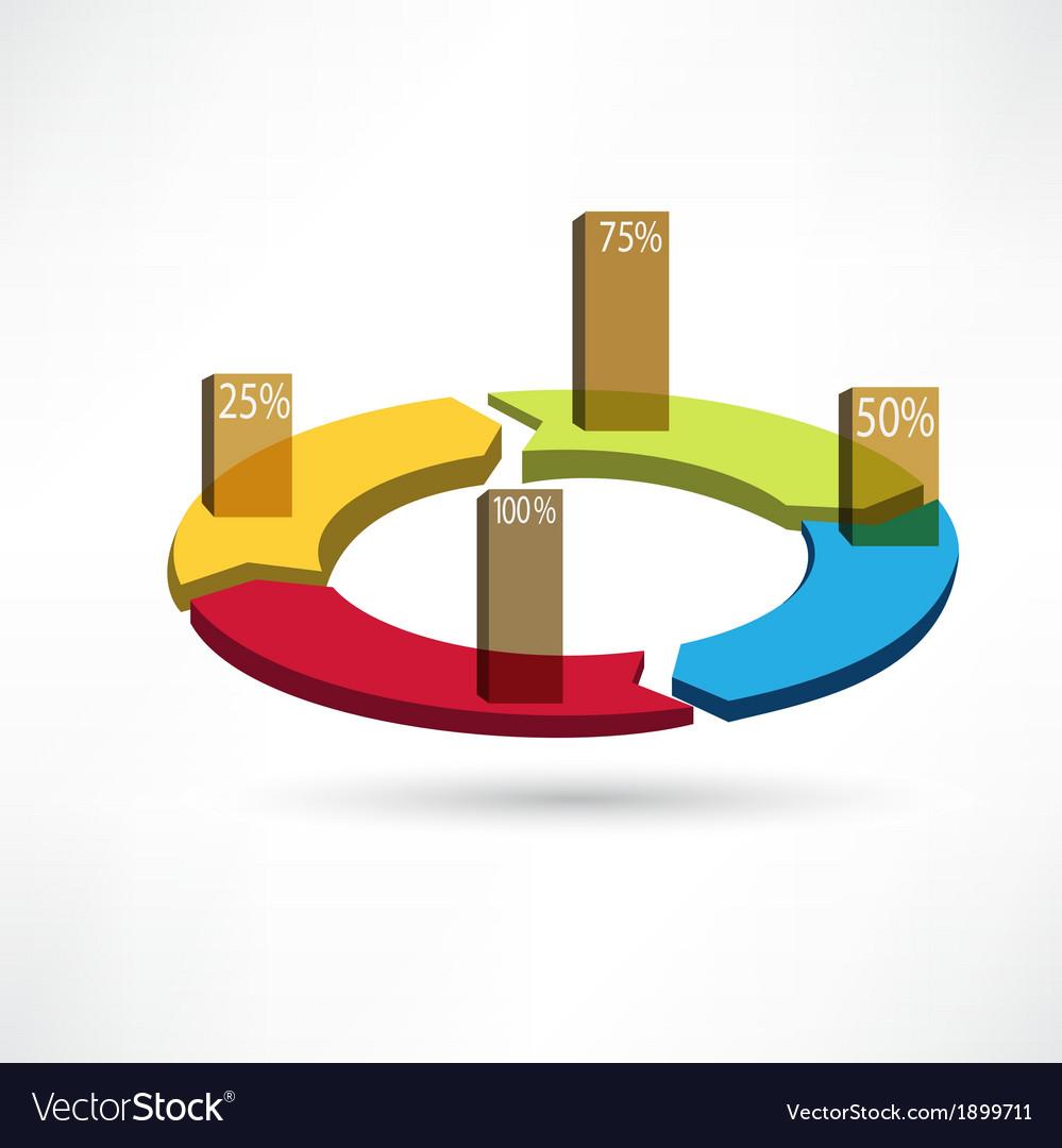 Circular arrows icon vector | Price: 1 Credit (USD $1)