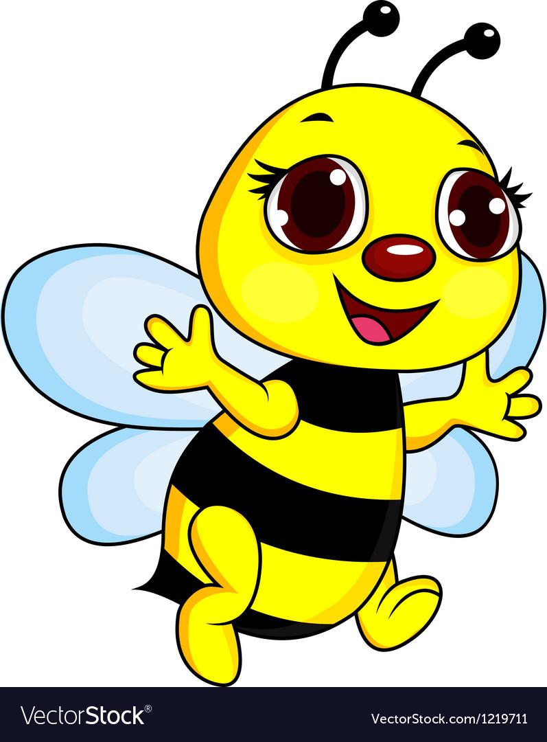 Cute funny bee cartoon vector   Price: 1 Credit (USD $1)
