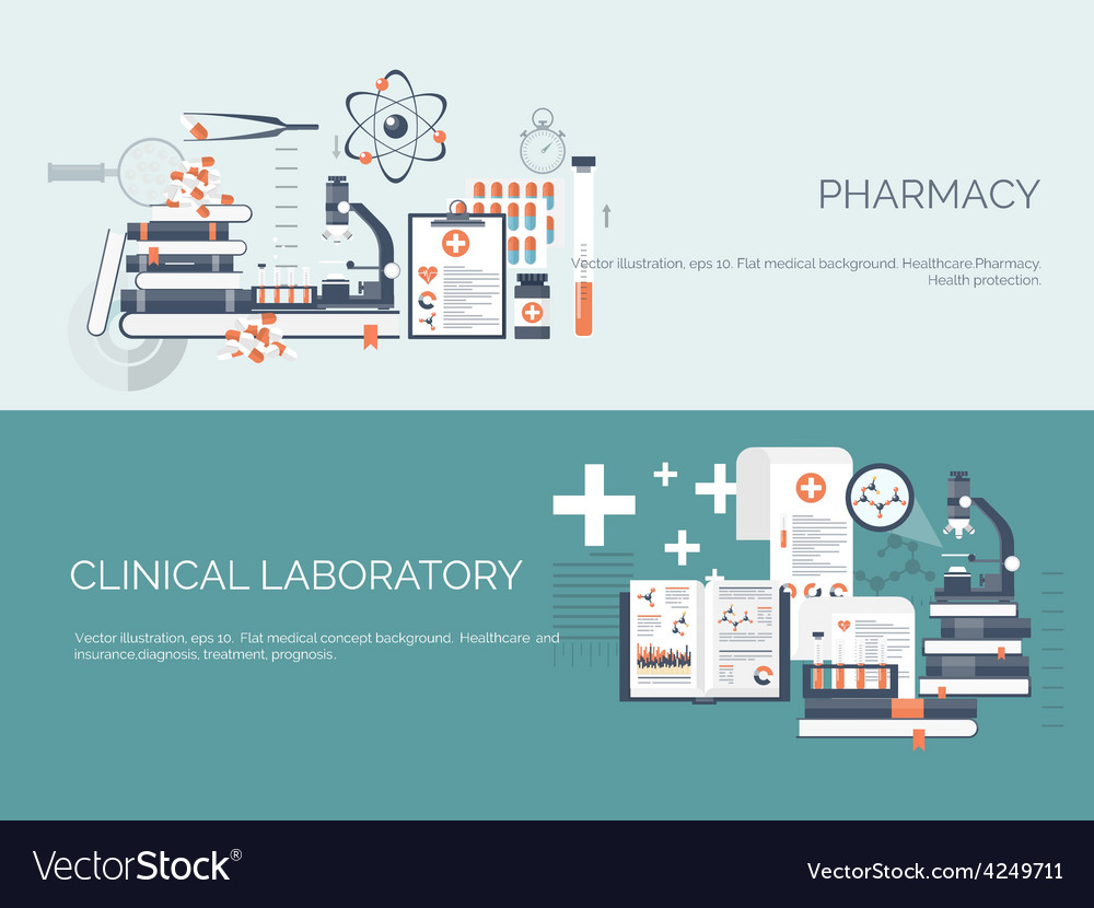 Flat medical and chemical vector | Price: 1 Credit (USD $1)